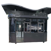 S顶钢结构氟碳漆治安岗亭